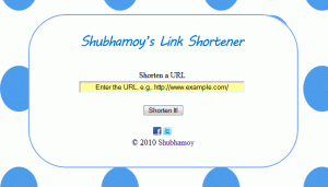 Shubhamoy&#8217;s Link Shortener