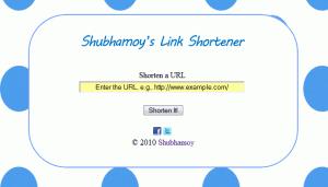 Shubhamoy's Link Shortener